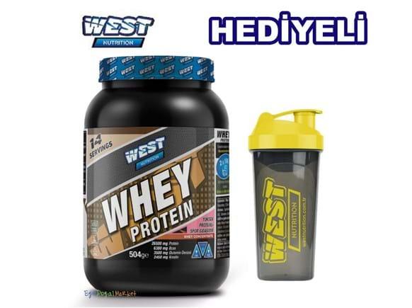 Needion - West Nutrition Whey Protein Tozu 504 gr 14 Servis Çikolata Aromalı