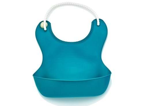 Needion - Pelikan Silikon Mama Önlüğü / Mavi