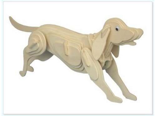 Needion - 3D Ahşap Puzzle - Köpek