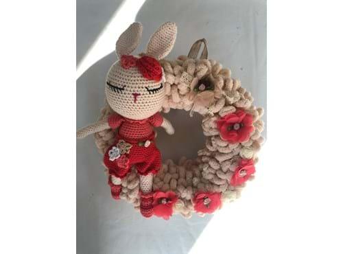 Needion - Amigurumi Tavşan Kapı Süsü