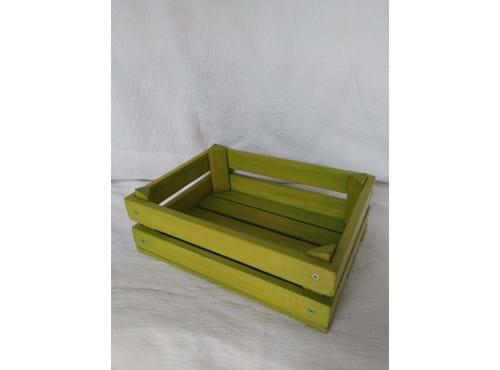 Needion - Renkli Yeşil Ahşap Sepet